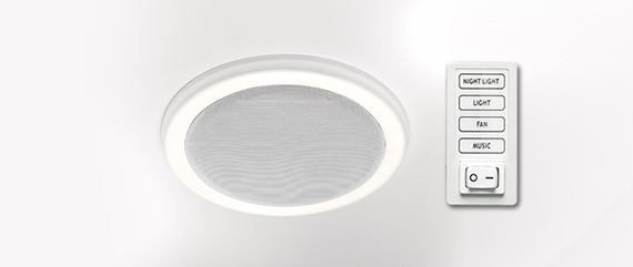 bluetooth bath fan with led light - home netwerks